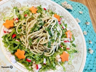 spaghetti spinach pesto