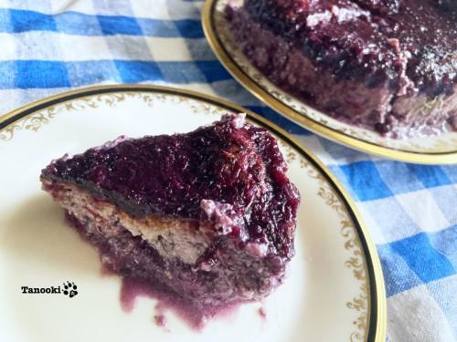 slice blueberry cheesecake