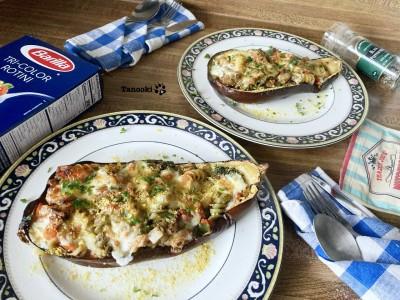 eggplant gratin boat